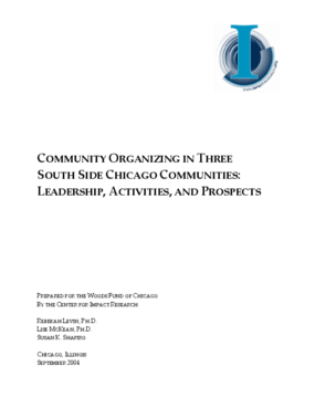 Community Organizing in Three South Side Chicago Communities: Leadership, Activities, and Prospects